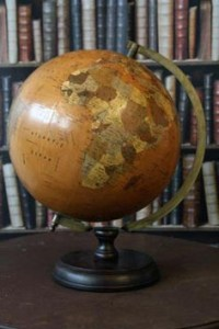 Large vintage style globe from Rockett St George