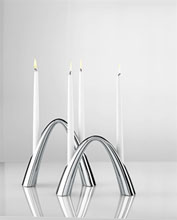 Stelton Twilight contemporary candle holders