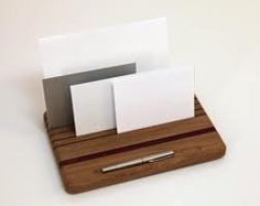 Organise your post with a solid oak desk tidy letter rack