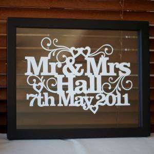 Wedding memories home accessories and art