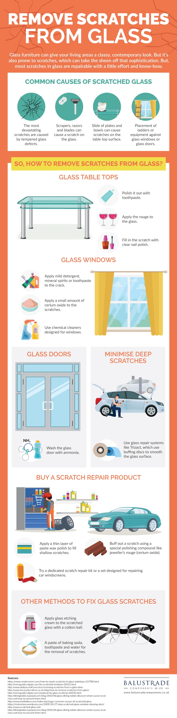 Find out how to remove scratches from glass home accessories