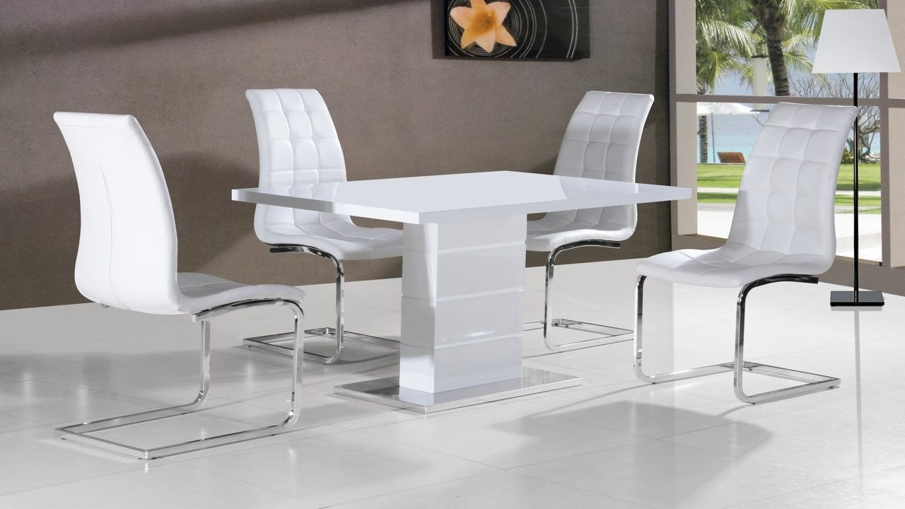 White Gloss Living Room Furniture Sets