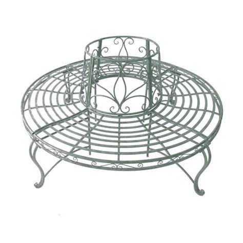 steel roundabout garden bench Metal Garden Furniture   Homegenies