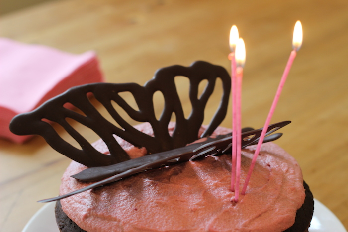 Pink Butterfly Cake | HOMEGROWN KITCHEN