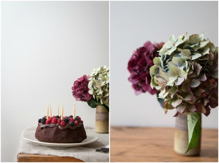 Chocolate Berry Walnut Cake | HOMEGROWN KITCHEN