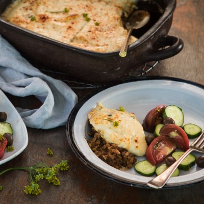 ZUCCHINI MOUSSAKA with Lentils & Fennel