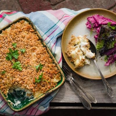 NEIGHBOURHOOD FISH & POTATO PIE with Rye Gratin