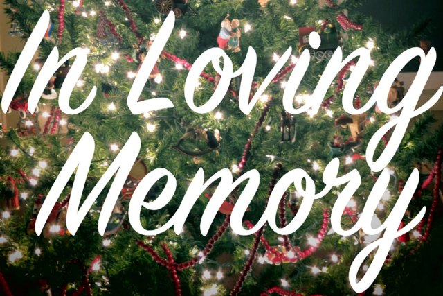 In Loving Memory – Wife, Mother, Grandmother