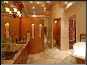 private shower area
