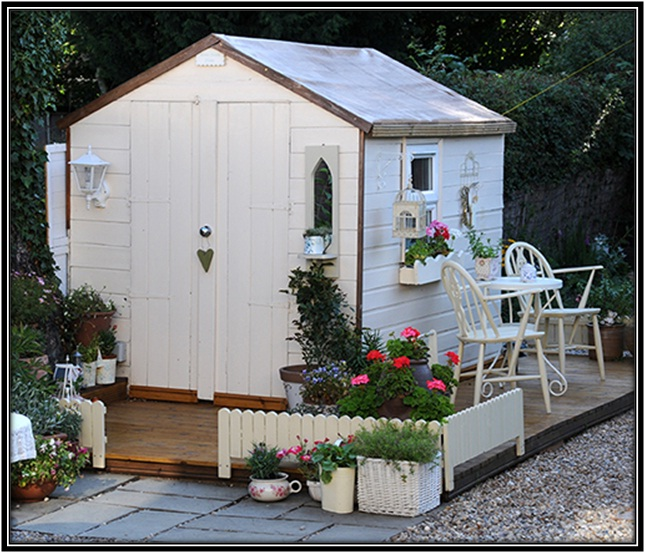 Rustic She Shed - Home decor ideas