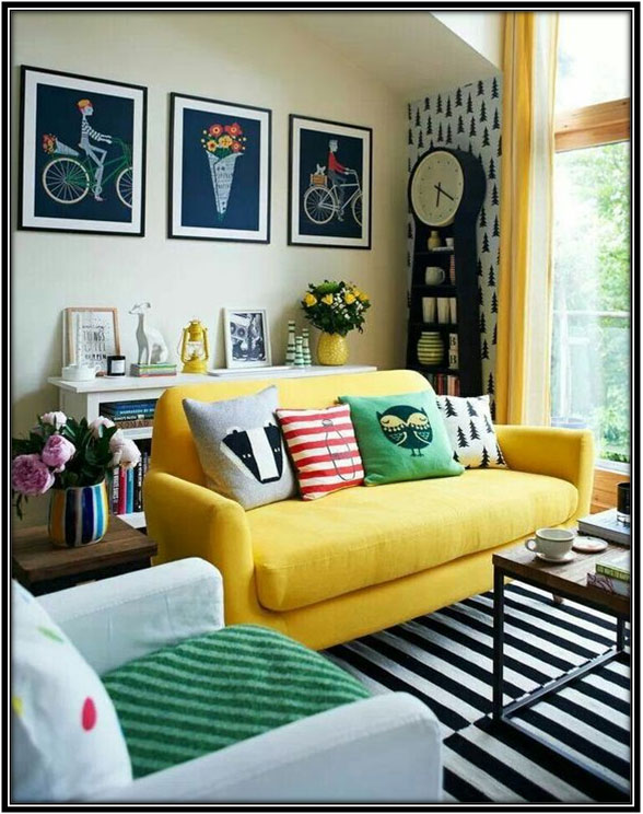 Color Yellow In The Living Room Living Room Decoration Ideas