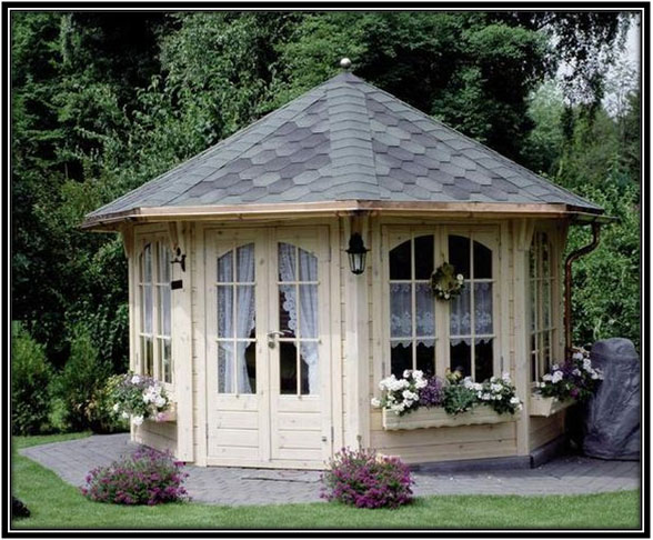 Octagon Shaped Sheshed Shesheds Decor Ideas