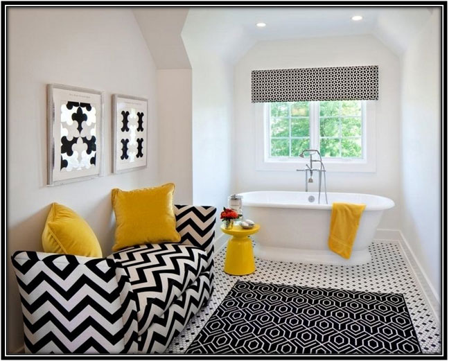 Tinge Of Yellow Bathroom Decoration Ideas