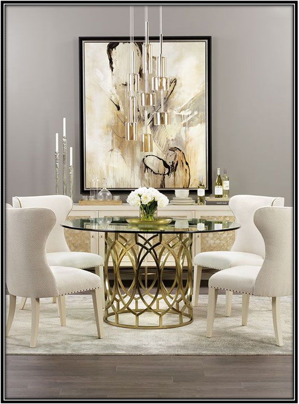 Artistic And Posh Dining Space Home Decor Ideas