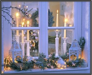 A Combination Of Lights & Candles - Home Decor Ideas