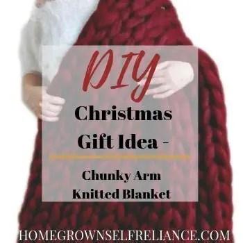 Chunky Arm Knitted Blanket - DIY Christmas Gift Idea