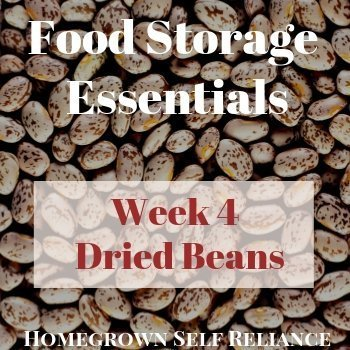 Dried Beans - Food Storage Essentials Week 4