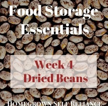 Food Storage Essentials - Week 4 - Dried Beans