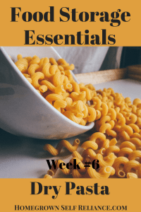 Food Storage Essentials - Dry Pasta