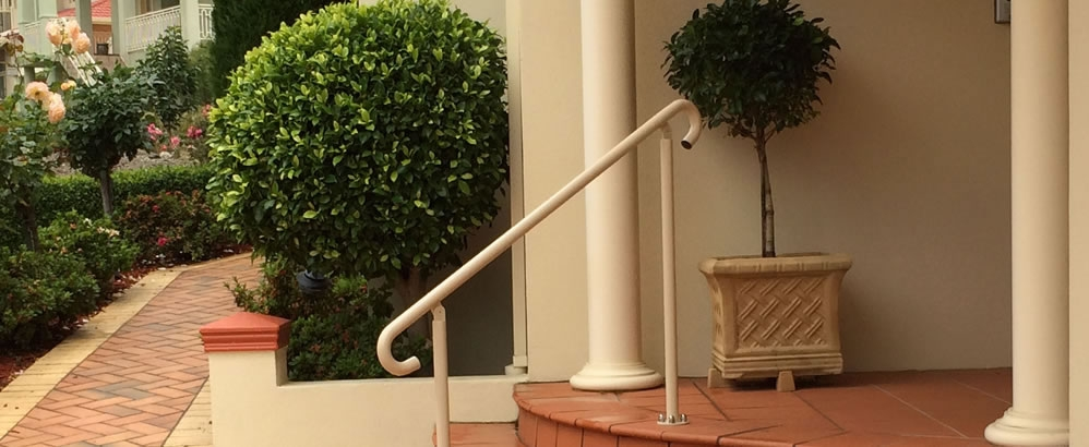 Handrails Grabrails Assisted Living Home Handrails   Ready Made Outdoor Stairs