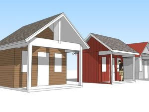 A schematic rendering of Joppa's tiny house village in Iowa.