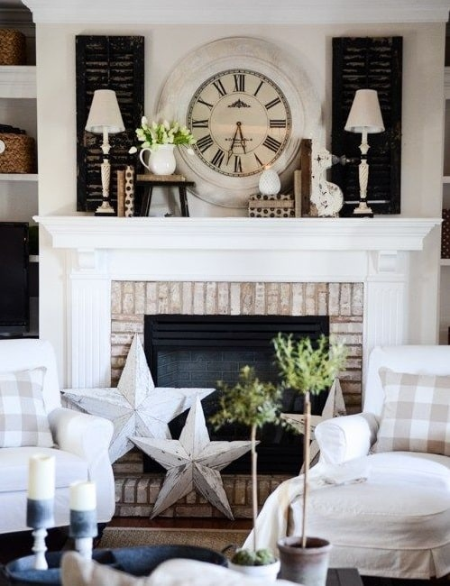 brick wall fireplace ideas 5
