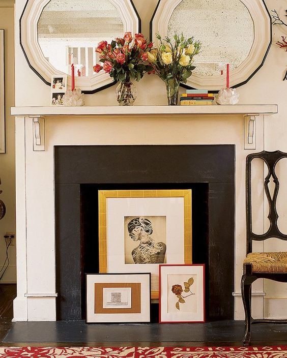 Innovative Ideas to Make your Decorative Fireplace Useful Again - Home Ideas HQ