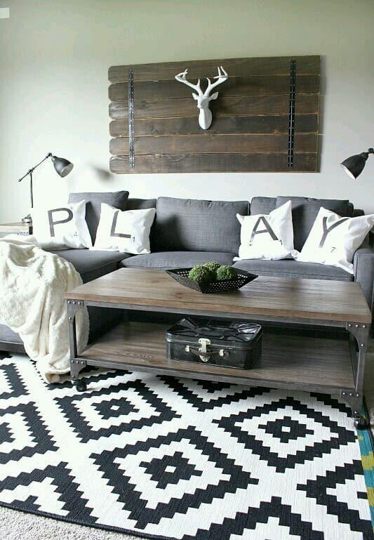 Modern Rustic Living Room Idea. ...