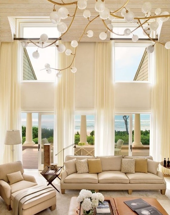 Large Living Room Window Treatment Ideas ... window treatments ideas for large windows in living room 1
