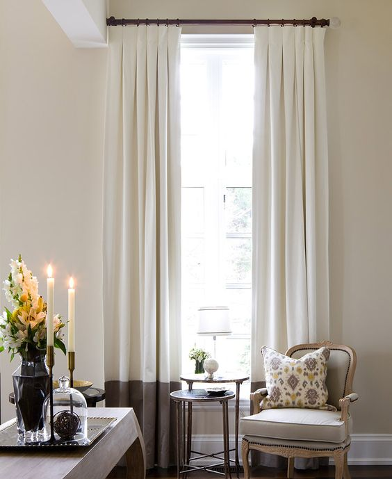 two toned window treatment idea for large windows window treatments ideas - Window Treatment Ideas
