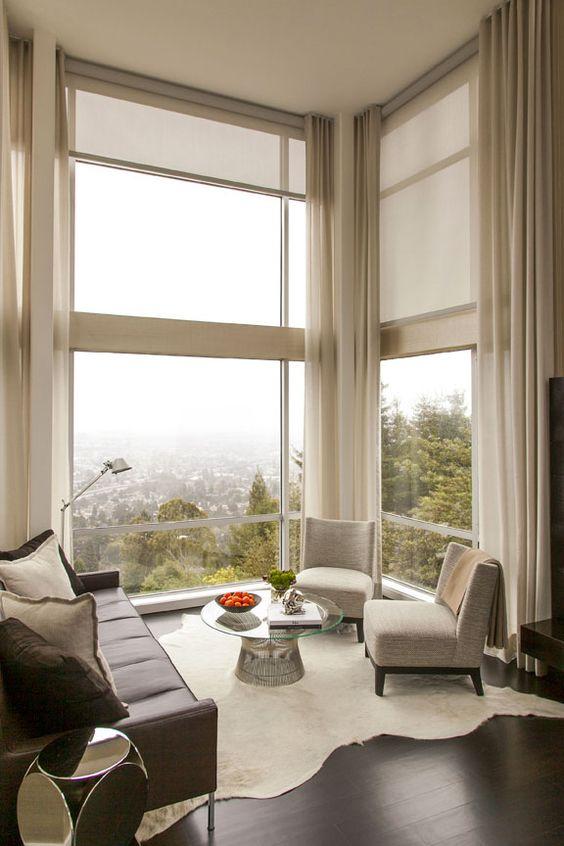 inspiring living room window treatment ideas | Astonishing Window Treatments for Large Windows in Living ...