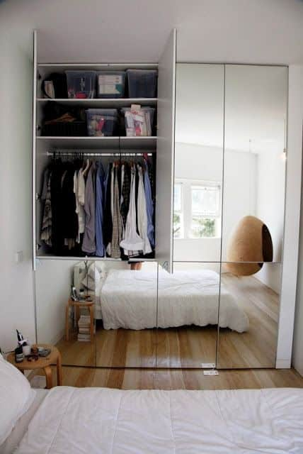 Mirrored Cabinet Design Ideas For Small Bedrooms. ...
