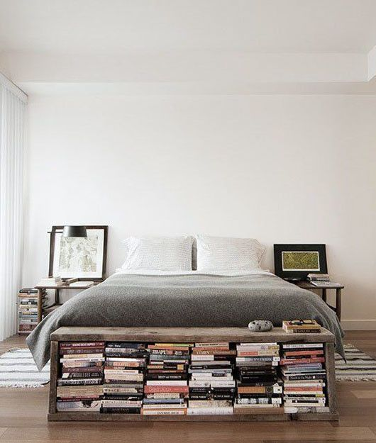 Bookshelf Ottoman Idea For Small Bedrooms. Bookshelf Ideas For Small Rooms 9