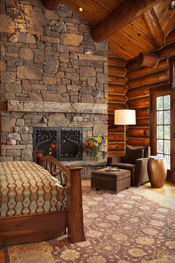 Diverse and varied ideas for a cobblestone fireplace. ...