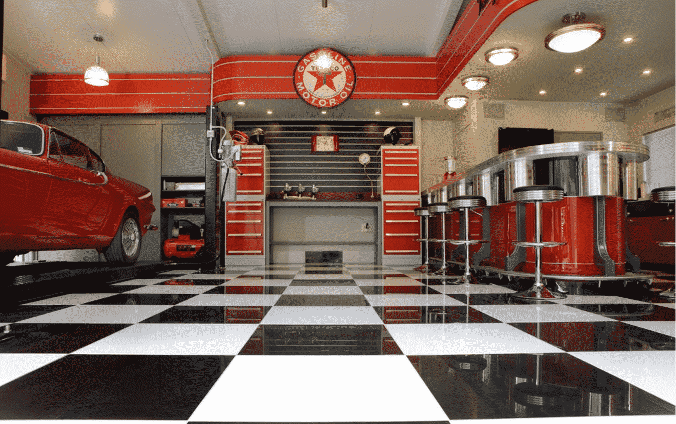 Outstanding Color Ideas to Make Your Garage Exceptional ... on Garage Decorating Ideas  id=62051