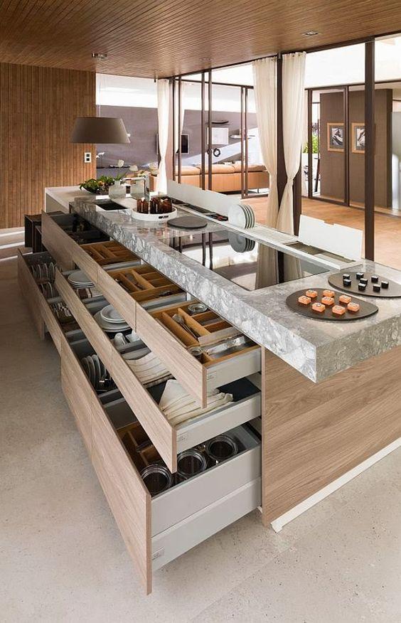 Organization Ideas For A Kitchen Island Design. ...