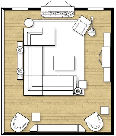 Narrow Living Room Layout With Fireplace U0026 TV. ...
