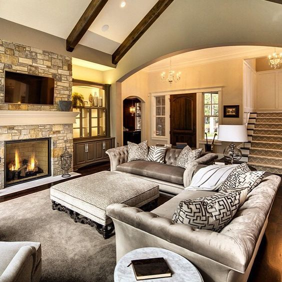 Effective living room layouts for your fireplace and tv - Small living room ideas with tv ...