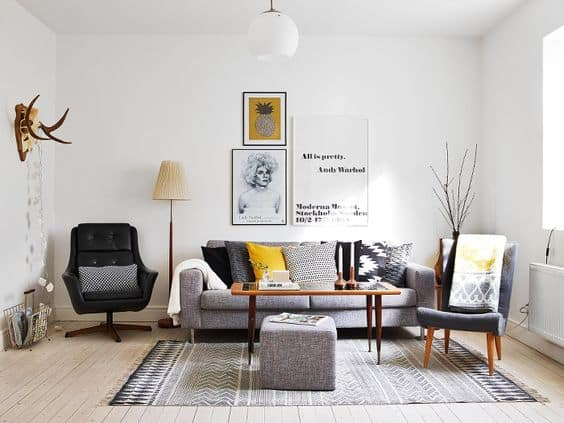 Nordic Ideas For A Simple Living Room.