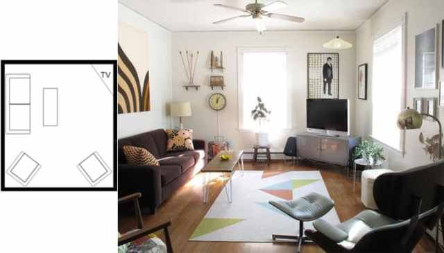 small living room layouts with TV 8