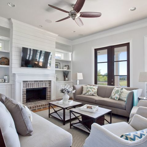 tv over the fireplace ideas 7