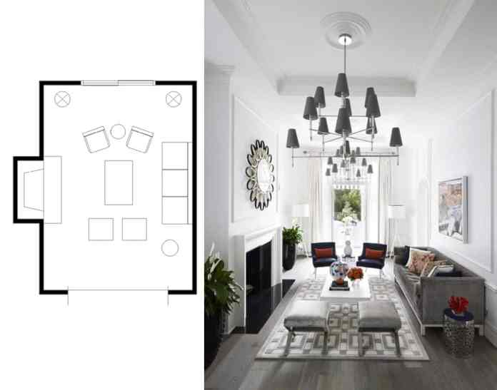 Marvelous Narrow Living Room Layouts: Solutions and Designs - Home ...