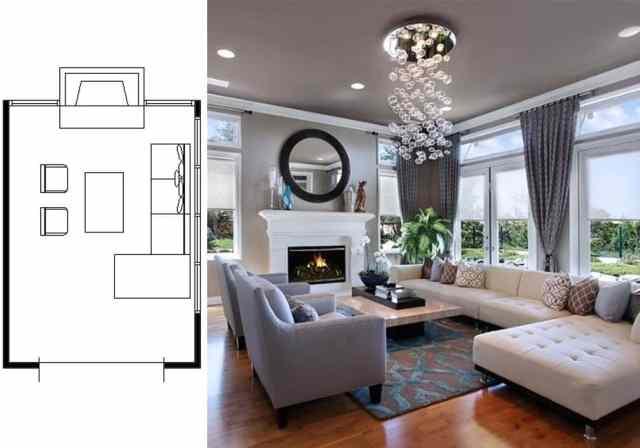 narrow living room layouts 9