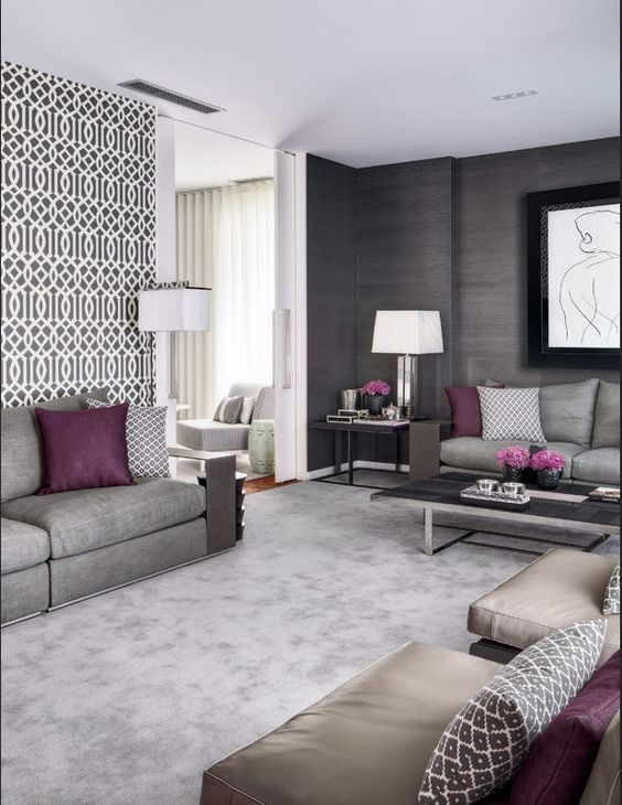 grey living room ideas 1.a.ii & Decorating With Grey: Inspiring Grey Living Room Ideas - Home Ideas HQ