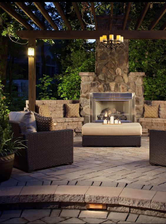 Significant Outdoor Fireplace Ideas For Your Outdoor Spaces Home - Electric outdoor fireplace
