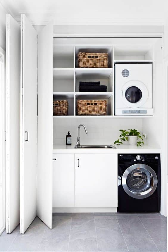 Tiny Home Designs: Smart Ideas To Make Small Laundry Rooms Efficient