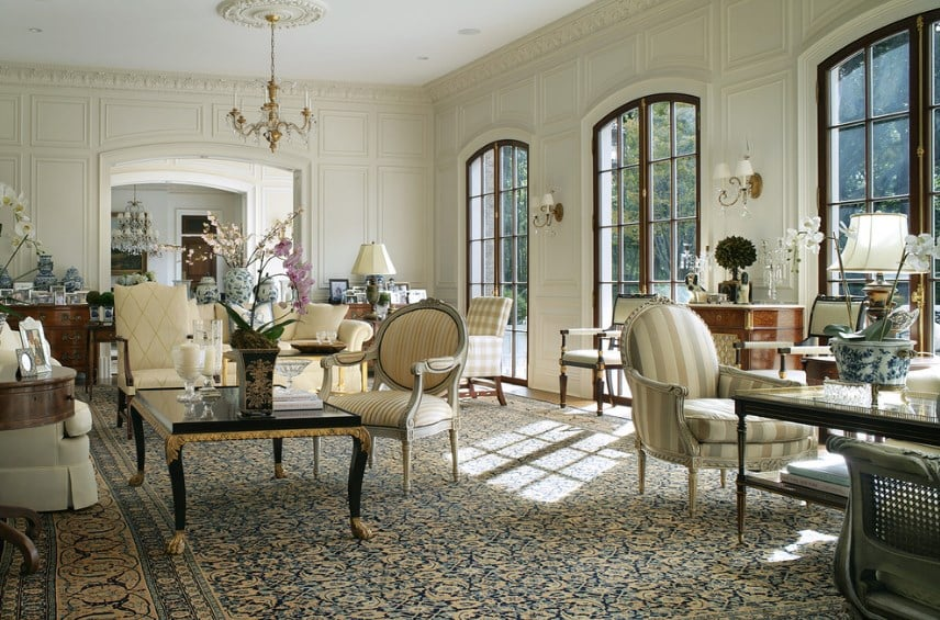 Living Room Ideas With Finely Crafted Furniture. Traditional ...
