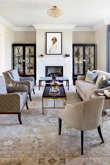Traditional Living Room With A Modern Classic Twist