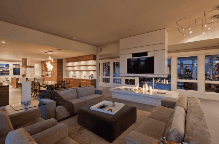 Efficient Living Room With Fireplace And Tv Layouts