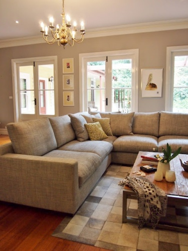 Sectional Couch Against Wall